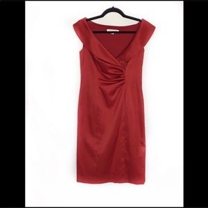Red Ruched Front Dress by Evan Picone NWT